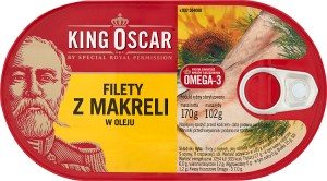 FILETY KING OSCAR 170G Z MAKRELI W OLEJU